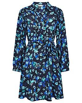Monsoon Ditsy Print Short Shirt Dress