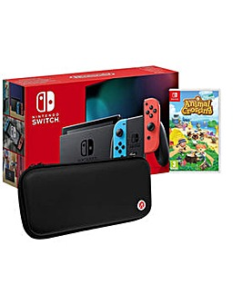Switch Neon and Animal Crossing and Case
