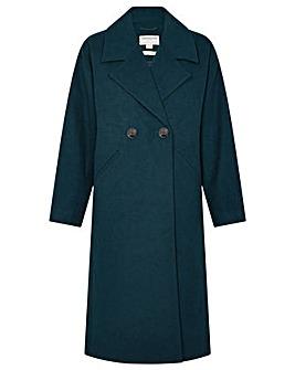 Monsoon Lilian Coat in Wool Blend