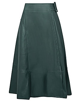 Monsoon Belted Leather-Look Skirt