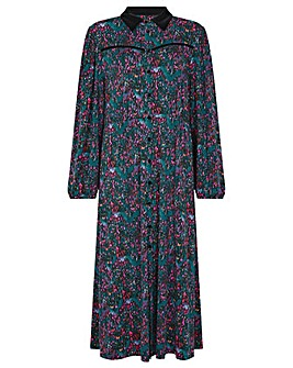 Monsoon Printed Midi Shirt Dress