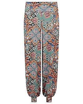 Monsoon Tie Print Hareem Trousers