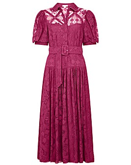 Monsoon Leila Lace Shirt Dress