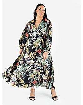 Lovedrobe Luxe Botanical Midaxi Dress