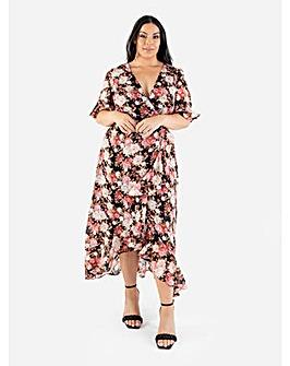 Lovedrobe Luxe Floral Faux Wrap Dress