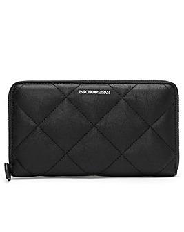 Emporio Armani Quilted Zip Around Wallet