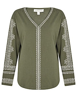 Monsoon LOUNGE Embroidered Top