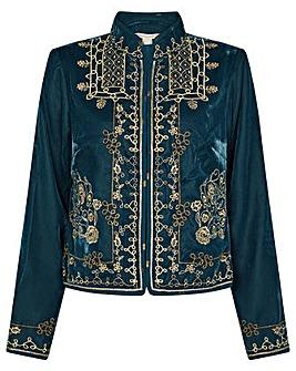 Monsoon Embroidered Velvet Jacket
