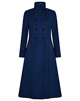 Monsoon Rosalee PU Tipped Coat
