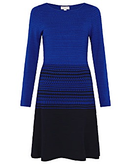 Monsoon Textured Fit and Flare Dress