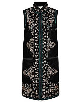 Monsoon Embroidered Velvet Waistcoat
