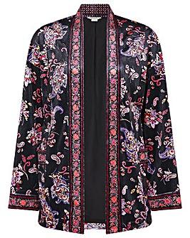 Monsoon Paisley Print Velvet Jacket