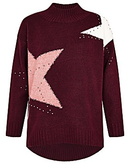 Monsoon Stacy Star Knit Jumper