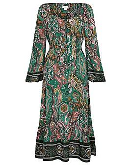 Monsoon Elaina Paisley Square Neck Dress