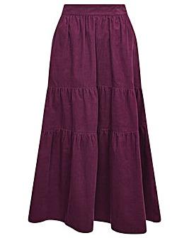 Monsoon Tia Tiered Cord Skirt