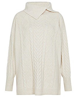 Monsoon Statement Cable Knit Jumper