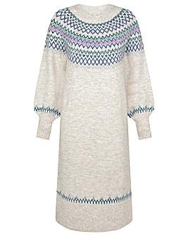Monsoon Fairisle Crew Neck Knit Dress