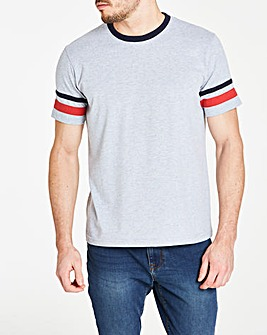 Stripe Sleeve T-Shirt R