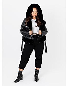 Lovedrobe Faux Leather Biker Jacket