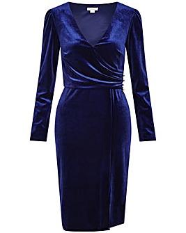 Monsoon Shelly Plain Velvet Dress