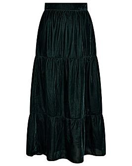 Monsoon Taylor Tiered Velvet Skirt