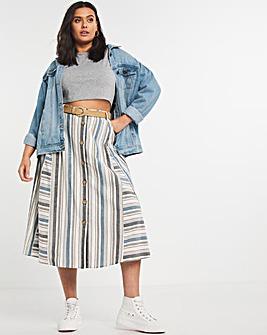 Joe Browns Linen Stripe Skirt