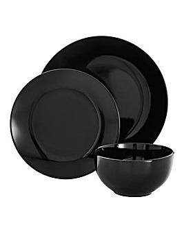 Liquorice Black 12 Piece Dinnerset