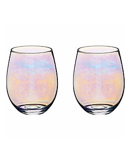 BarCraft Lustre Set of 2 Tumblers