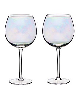 BarCraft Lustre Set of 2 Gin Glasses