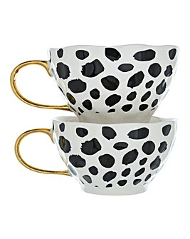Set of 2 Blotch Print Mugs