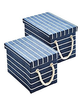 Nautical Set of 2 Storage Baskets
