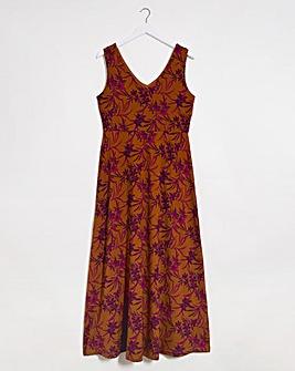 Joe Browns Palm Print Maxi Dress