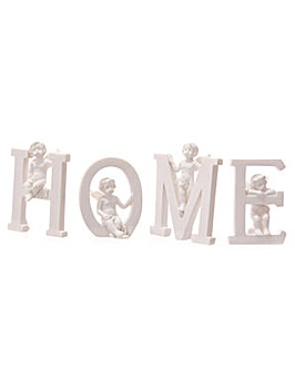 White HOME Cherub Letters Set