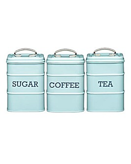 Living Nostalgia 3-Piece Storage Tin Set