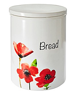 Poppies Ceramic Bread Bin