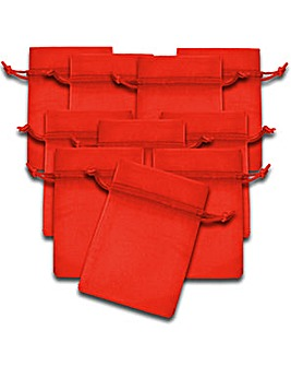 Organza Favor Bags Red x 10