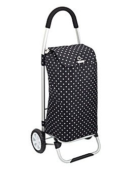 Black Polka Dot Shopping Trolley