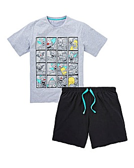 Krusty the Clown Short PJ Set