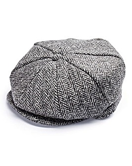 Capsule Grey Check Baker Boy Hat