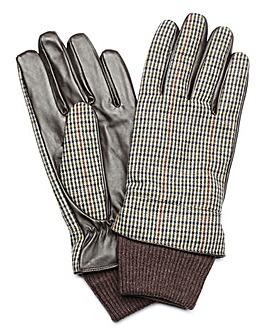 Capsule Grey Check Tweed Gloves