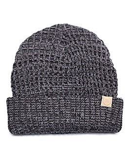 Capsule Charcoal Ribbed Beanie