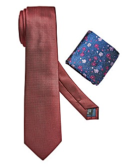 W&B LONDON Tie & Pocket Square Set