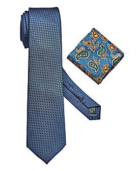 W&B LONDON Tie & Pocket Square Set
