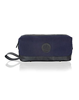 "Woodland Leather 13"" Contrast Washbag"