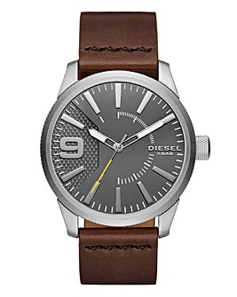 Diesel Gents Rasp Leather Strap Watch