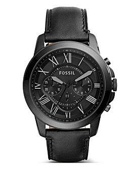 Fossil Gents Grant Leather Strap Watch