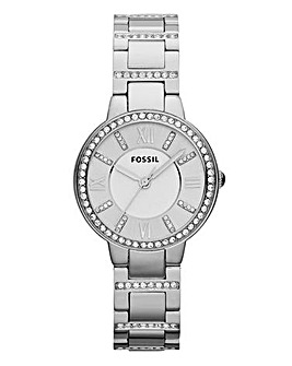 Fossil Ladies Virginia Watch Silver Tone