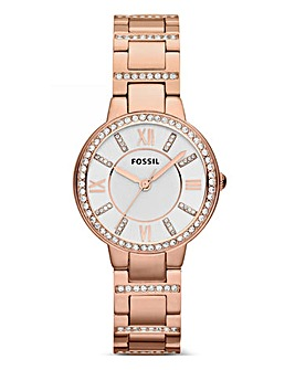 Fossil Ladies Virginia Watch Rose Tone