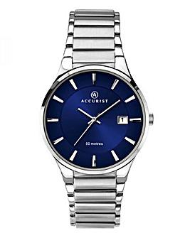 Accurist Gents Blue Face Bracelet Watch