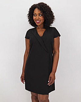 Black Workwear Tailored Shift Dress